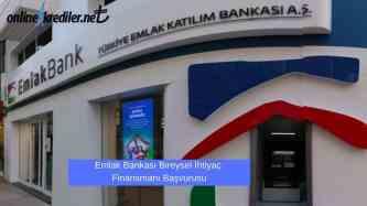 Emlak Bankasi Bireysel ihtiyac Finansmani basvurusu
