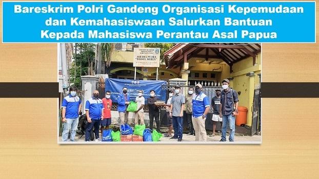 Bareskrim Polri Gandeng Organisasi Kepemudaan dan Kemahasiswaan Salurkan Bantuan Kepada Mahasiswa Perantau Asal Papua