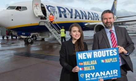 RYANAIR'S FIRST EXETER FLIGHTS TAKE OFF 3 NEW ROUTES TO MALTA, NAPLES & MALAGA