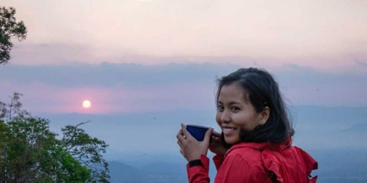 WOMAN WHO SCALED CAMBODIA'S THREE HIGHEST PEAKS EYES EVEREST