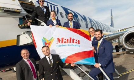 RYANAIR'S FIRST CARDIFF TO MALTA FLIGHT TAKES OFF