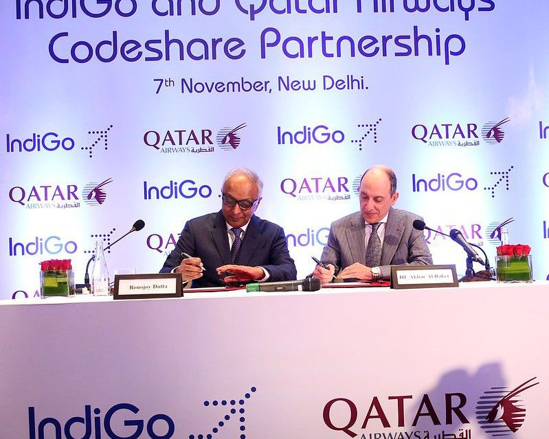 Qatar Airways and IndiGo Sign Codeshare Agreement