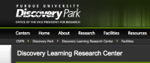 "Discovery learning programs, often applied to STEM education, as shown here, image of Purdue University's 'Discovery Learning Research Center' (DLRC) with its ""mission of the DLRC is to advance research that revolutionizes learning in the STEM disciplines""."
