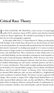Critical Race Theory In Higher Education: 20 Years Of Theoretical And  Research Innovations - McCoy - 2015 - ASHE Higher Education Report - Wiley  Online Library