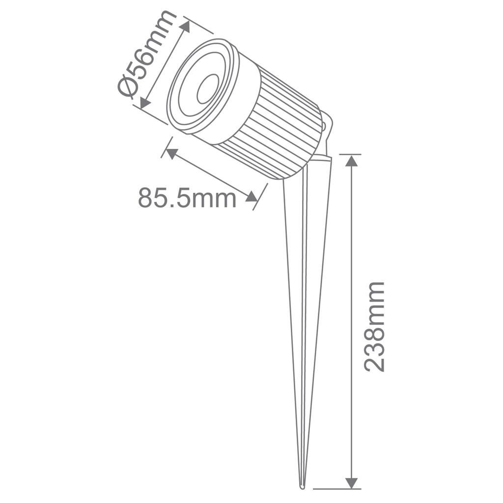 Zoom 12 Watt 12v Adjustable Led Spike Light Black White