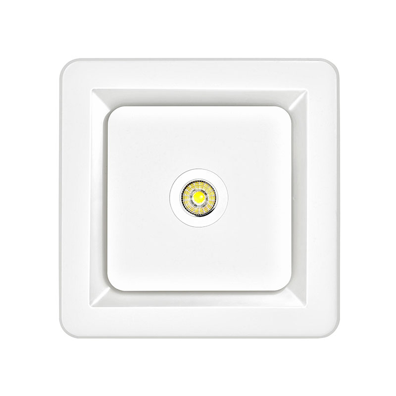 tetra ii square bathroom exhaust fan with 7w led light white warm wh