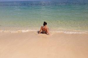 jamaika-strand-alleine