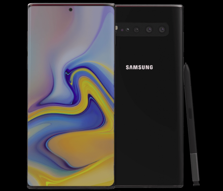 Galaxy Note 10 concept render based on leaks