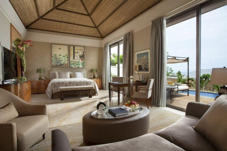 The Mulia offers three distinct categories of accommodations: The Mulia (all suites), Mulia Resort, and Mulia Villas (pictured).
