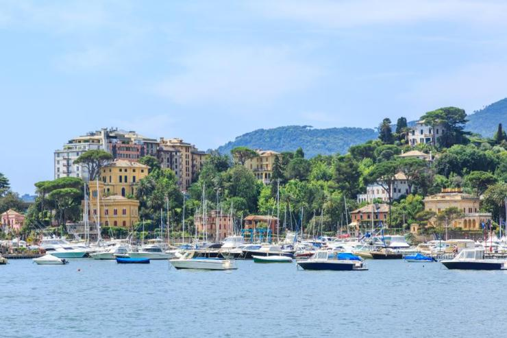Italian old town Rapallo sea view