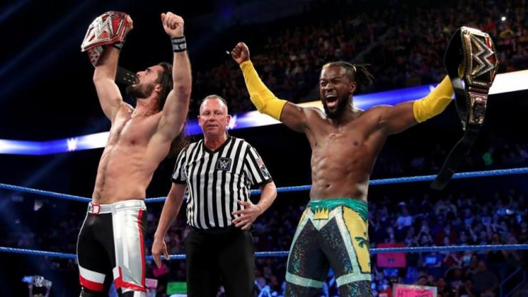 Seth Rollins and Kofi Kingston