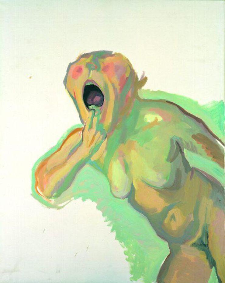 Maria Lassnig Sprechzwang, 1980, Privatsammlung, courtesy Maria Lassnig Foundation