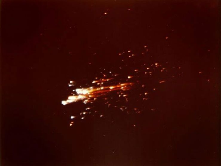 Both the Command Module and the Service Module from Apollo 11 followed the same re-entry trajectory, which could have proved fatal to the astronauts aboard the Command Module if a collision of any type had occurred. It was only through luck that such a catastrophe was avoided.