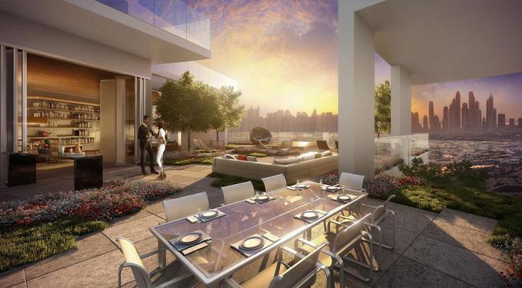 Penthouse terrace at FIVE Jumeirah Village Dubai