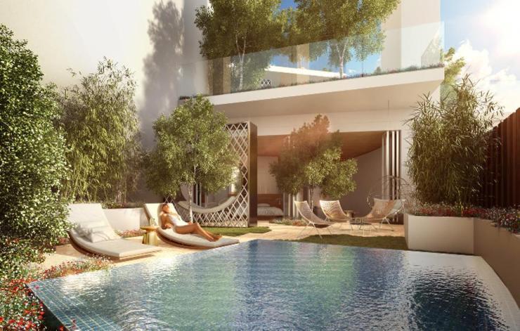 Villa pool at FIVE Jumeirah Village Dubai