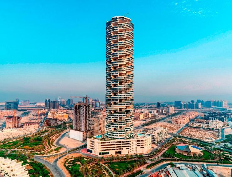 Construction is now complete on FIVE JUMEIRAH VILLAGE DUBAI