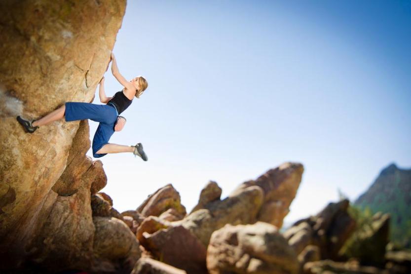 Rock climber Boulder, Colorado
