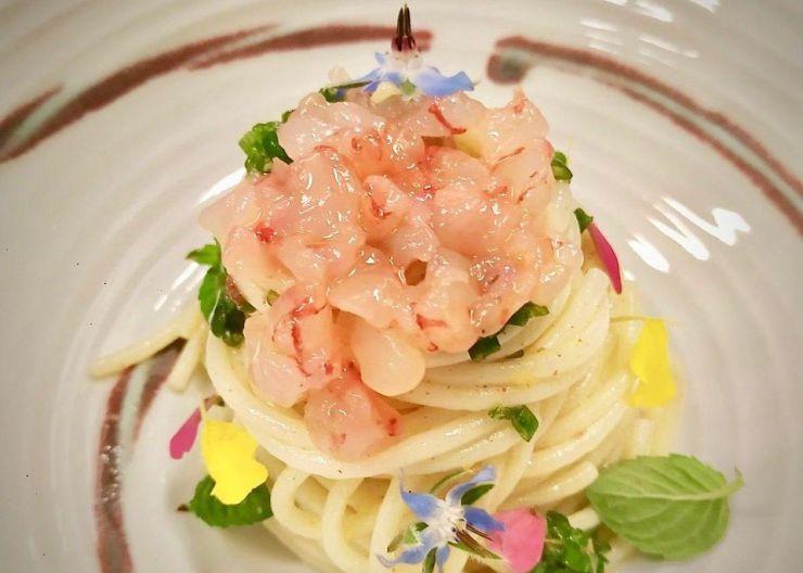 Spaghettini Freddi Benedetto Cavalieri at La Cucina at Il Salviatino in Fiesole, Florence.