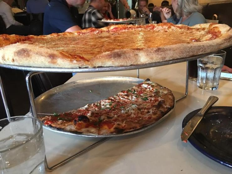 Two pizzas at Tony's Pizza Napoletana