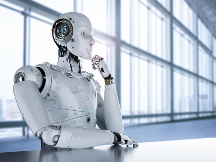 humanoid robot thinking