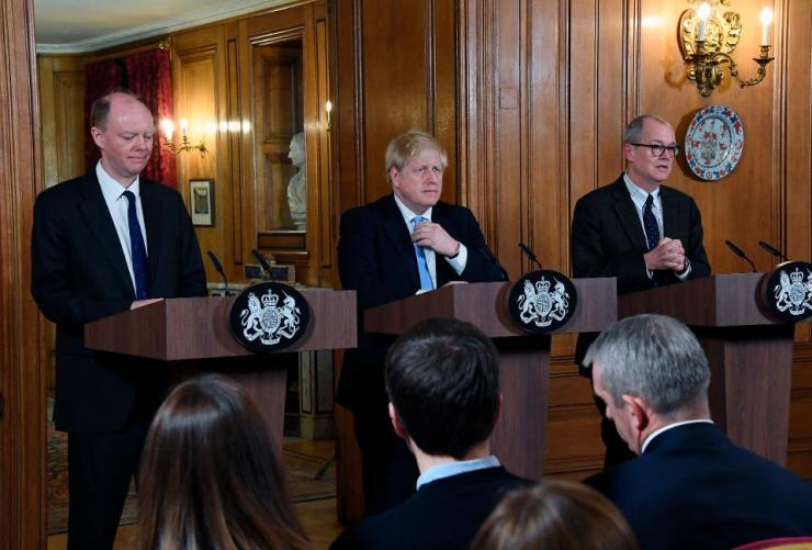 Boris Johnson Holds Press Conference On Government's COVID-19 Response