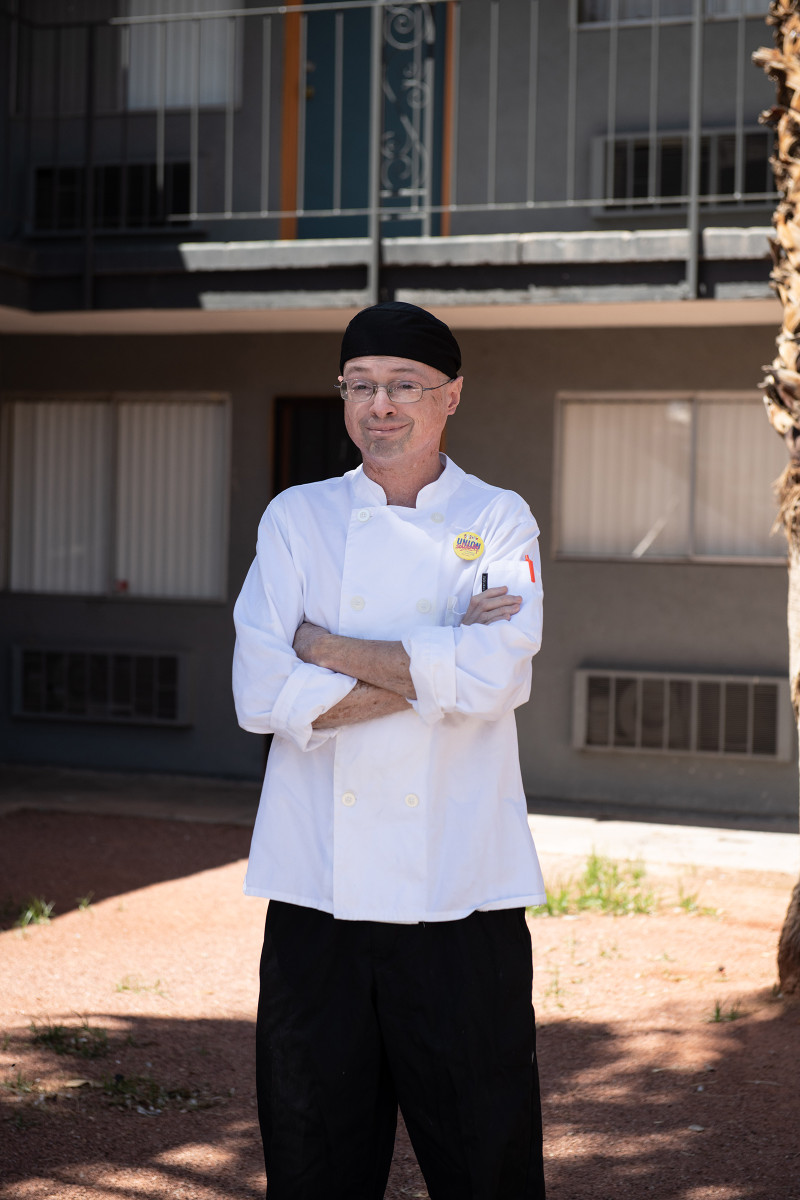 """Shawn Best, 38, Cook, Las Vegas. Best loved his job as the """"breakfast guy"""" at the Cosmopolitan, where he'd worked since the hotel opened nearly a decade ago. Now when he talks to his parents in Buffalo, N.Y., he says, """"I feel like I'm the retired one while my parents are still working."""" Since receiving his last paycheck in mid-April, he's been using his unemployment benefits and the stimulus check to pay his bills and buy food."""