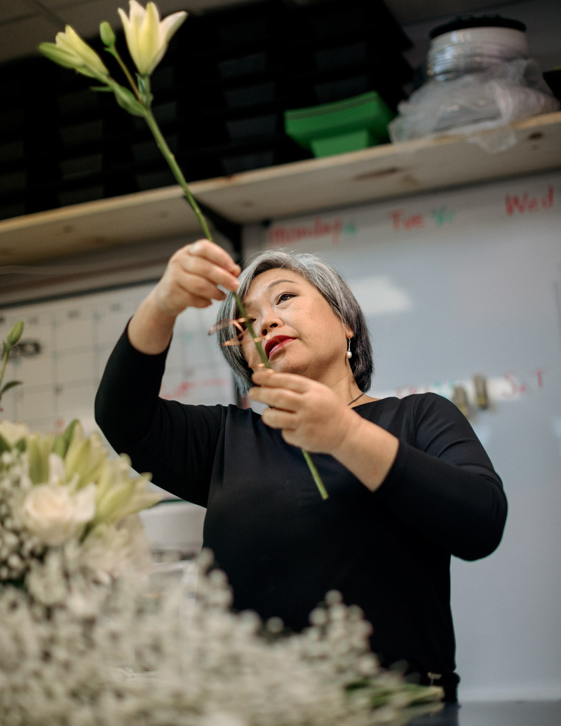 """Eileen Cheng, 60, Florist, Fort Lauderdale, Fla. """"Everything just went down to zero,"""" says Cheng, who has owned Yacht Flowers with her daughter since 2009. The shop primarily provided arrangements to private yachts, but few people are making use of luxury pleasure cruisers lately. Cheng is worried about what this could mean for her retirement: """"I'm asking myself, Am I able to recover?"""""""