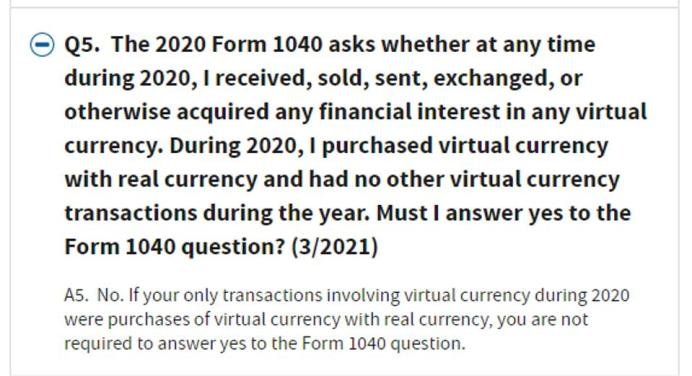 Q5 of IRS virtual currency FAQs