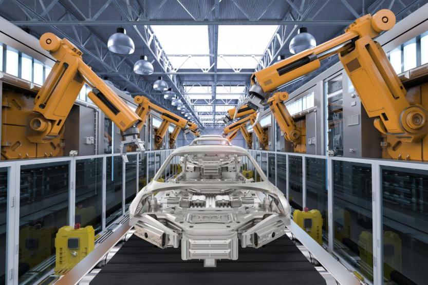 robot in car factory