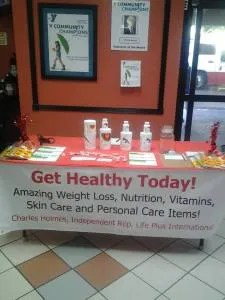 booth at health fair