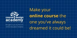 CDA-Twitter graphic with logo left and text that says 'Make you online course the one you've always dreamed it could be!' - Click for download.