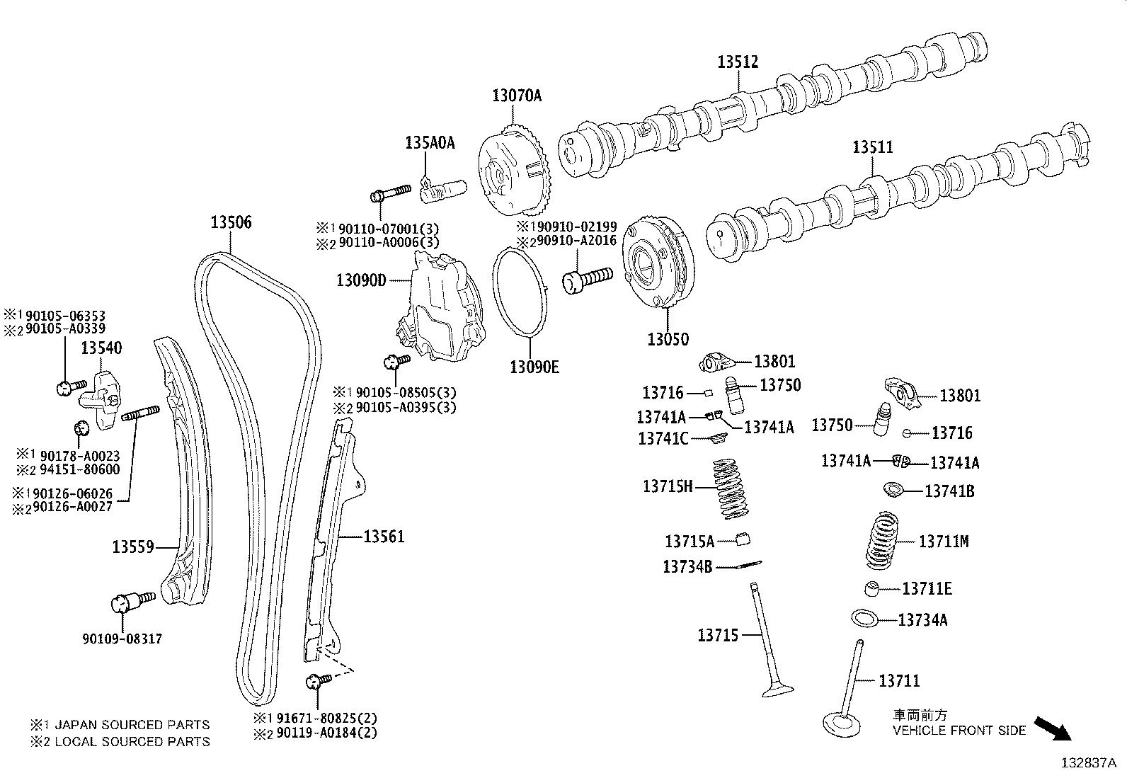 Toyota Rav4 Engine Timing Chain Along