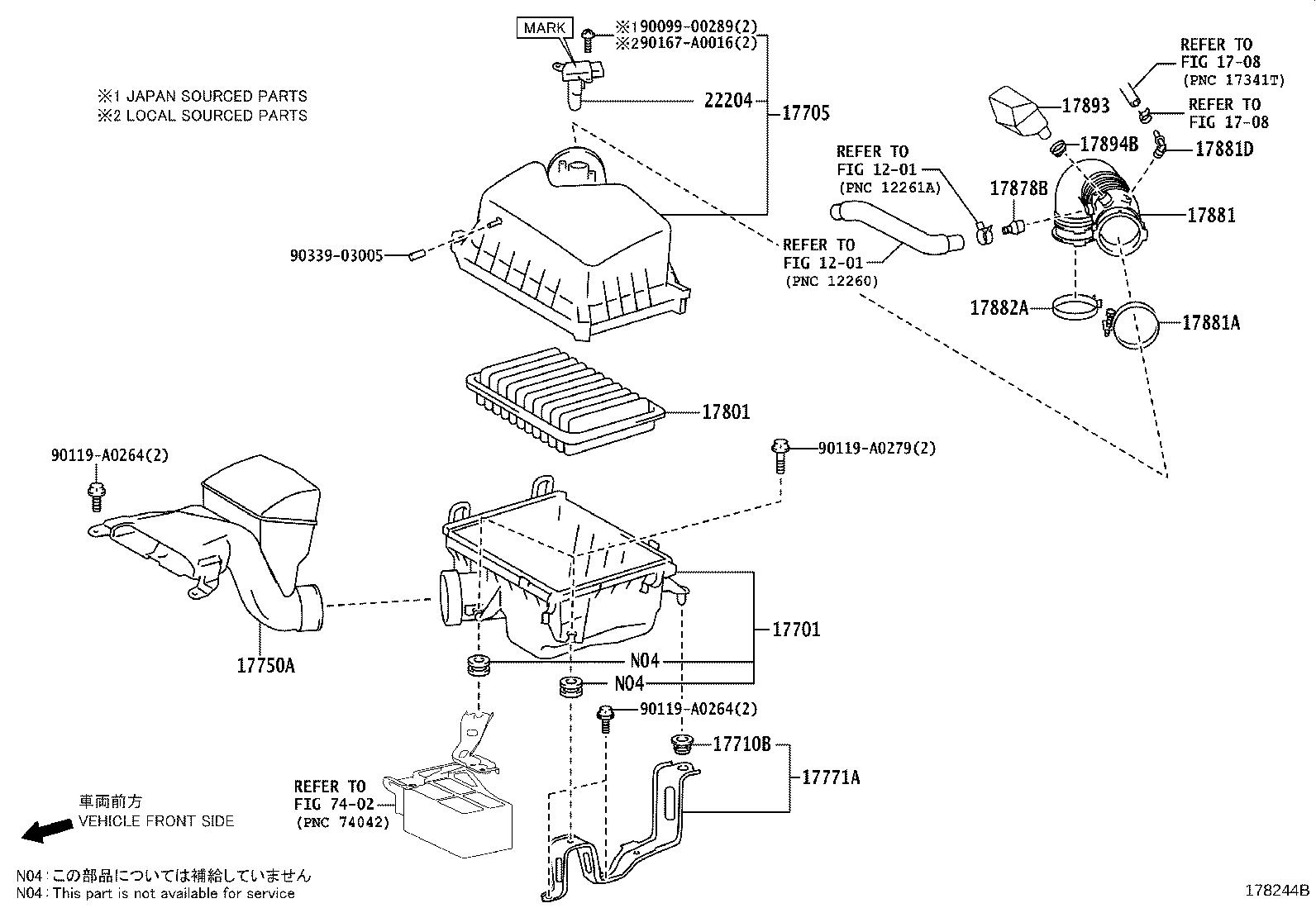 Toyota Highlander Engine Air Intake Resonator Clamp