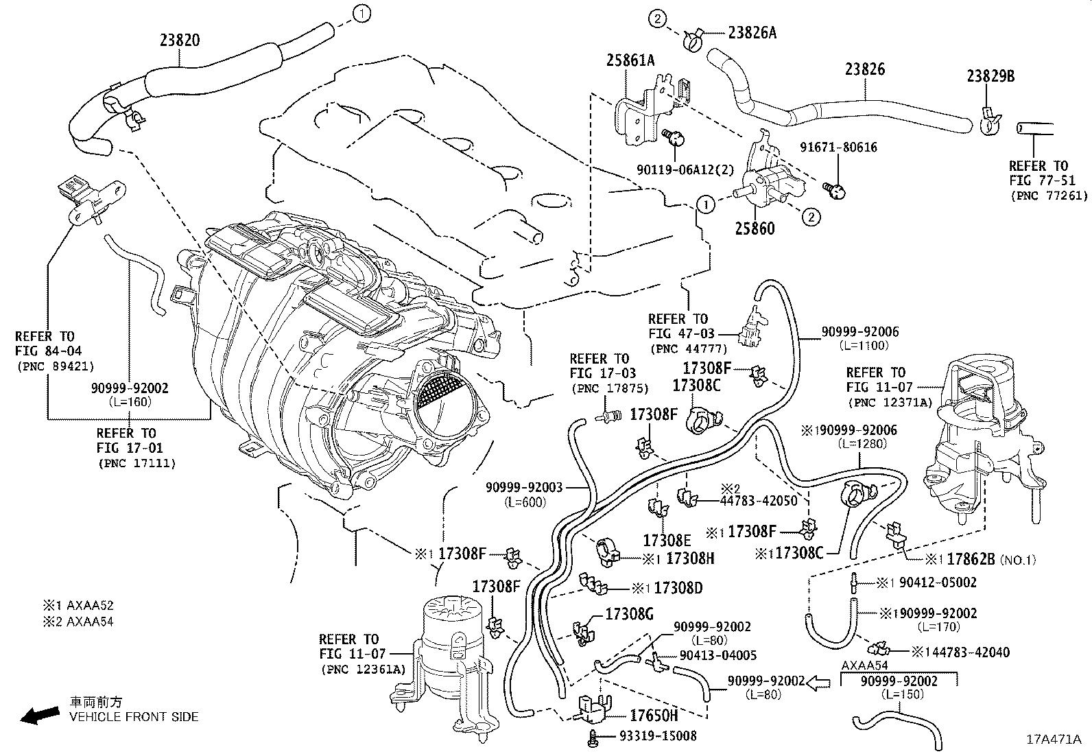 Toyota Rav4 Vapor Canister Purge Solenoid Valve Vacuum