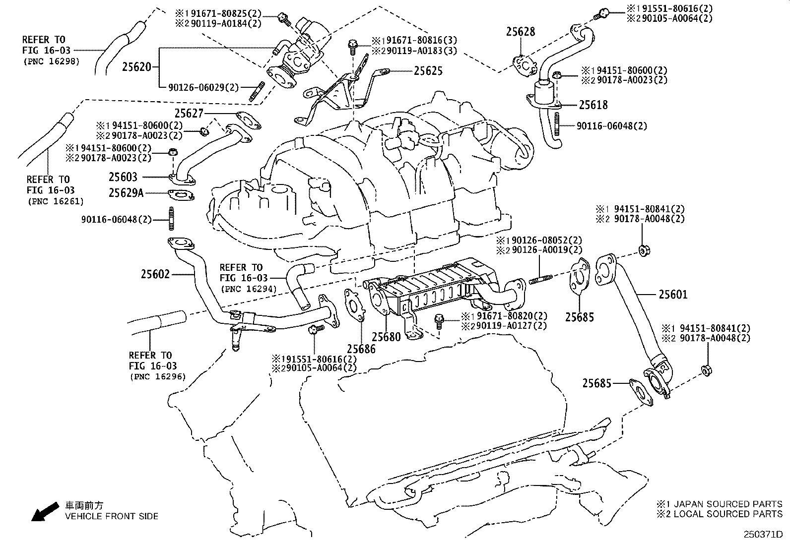 Toyota Tundra Egr Valve System Exhaust Make