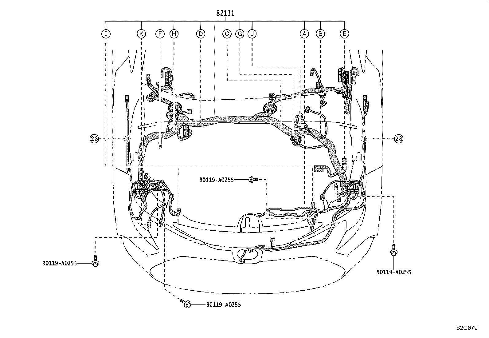 Toyota Corolla Wire Engine Room Main Cvt Clamp Bracket