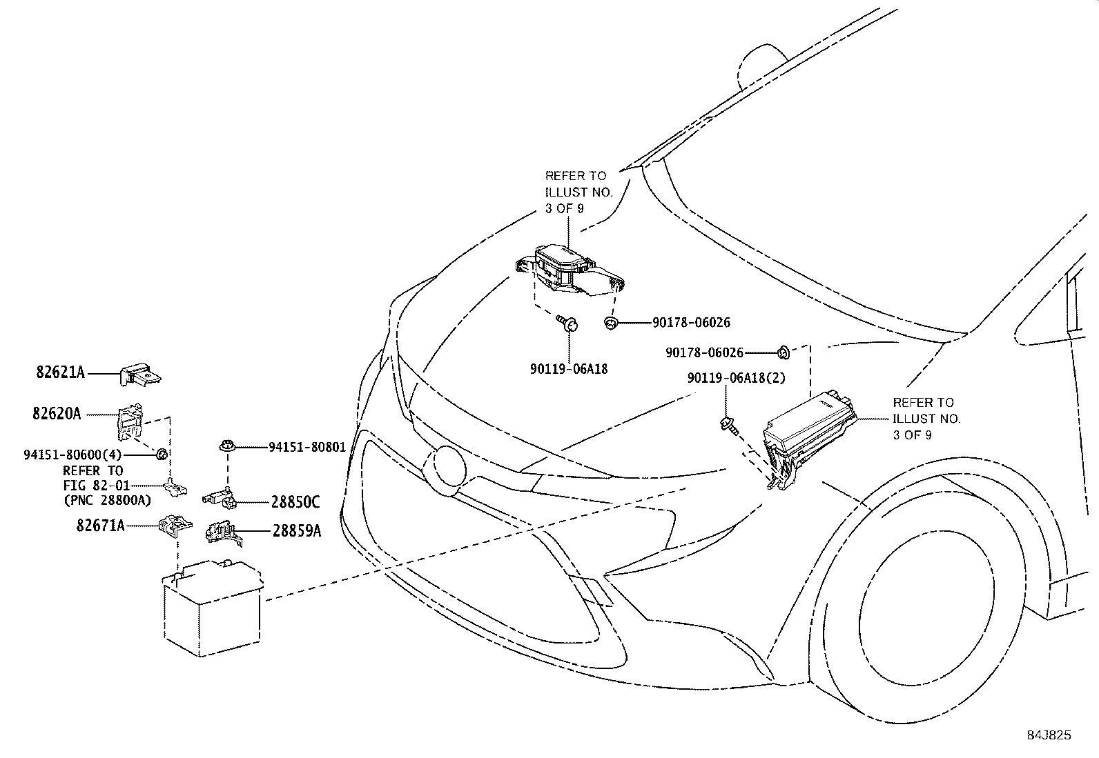 Toyota Corolla Bracket Sensor No 2 Wiring Harness