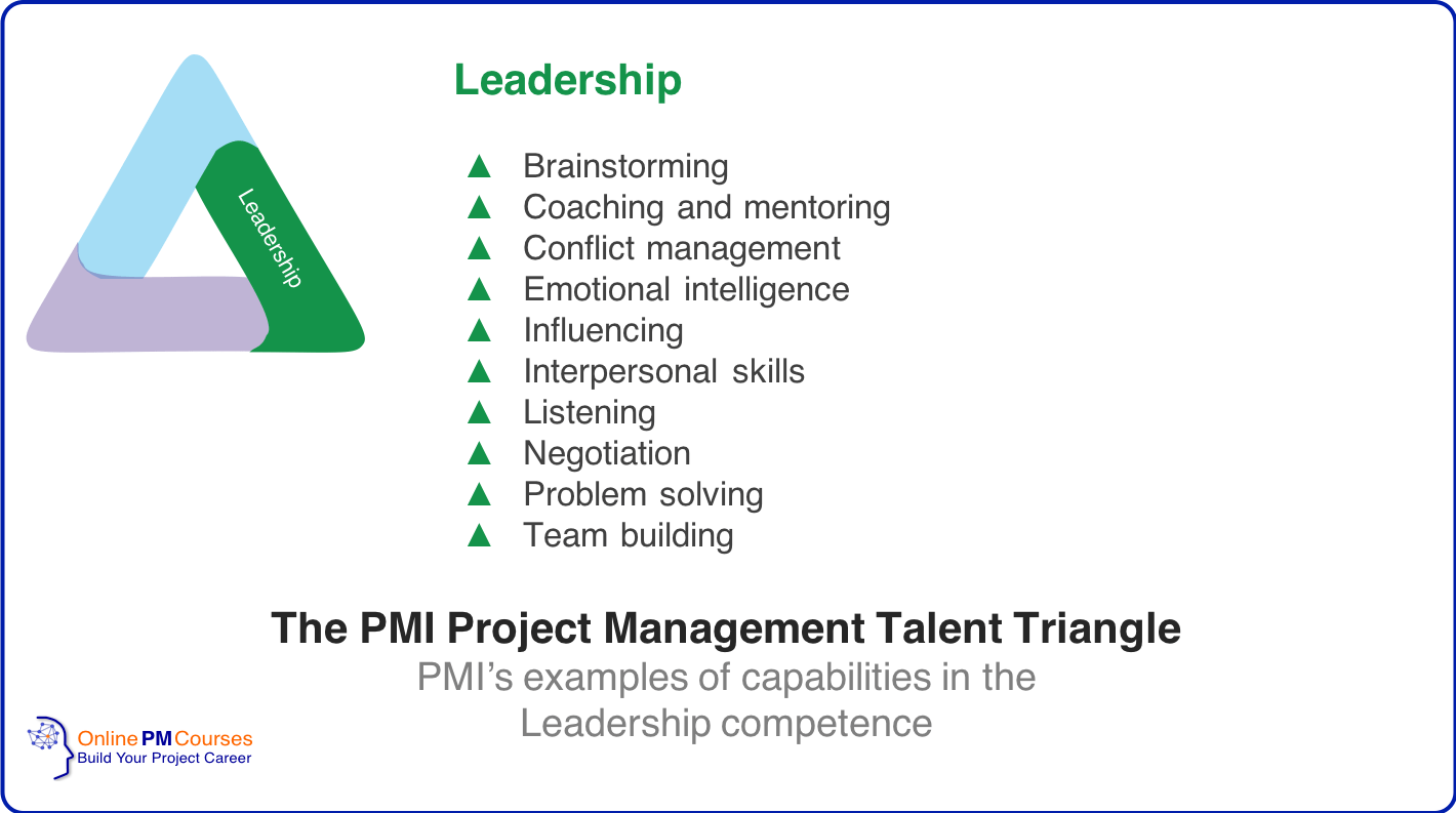 The PMI Project Management Talent Triangle - Leadership