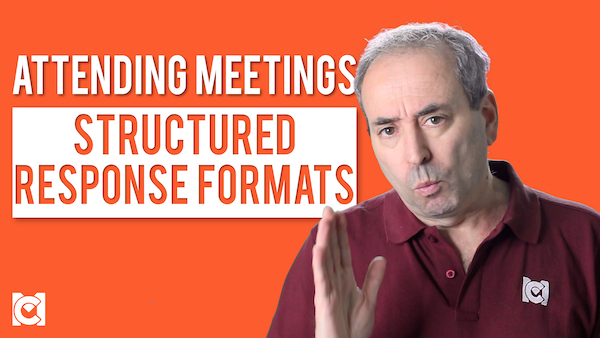 Management Courses - Attending Meetings - Structured Response Formats