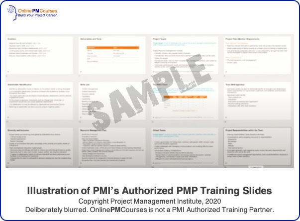 Illustration of PMI's Authorized PMP Training Slides