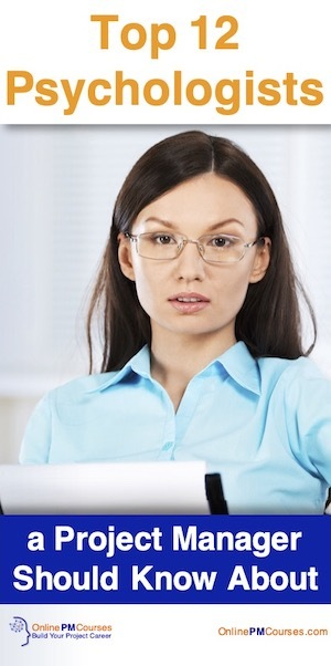 Top 12 Psychologists a Project Manager Should Know About
