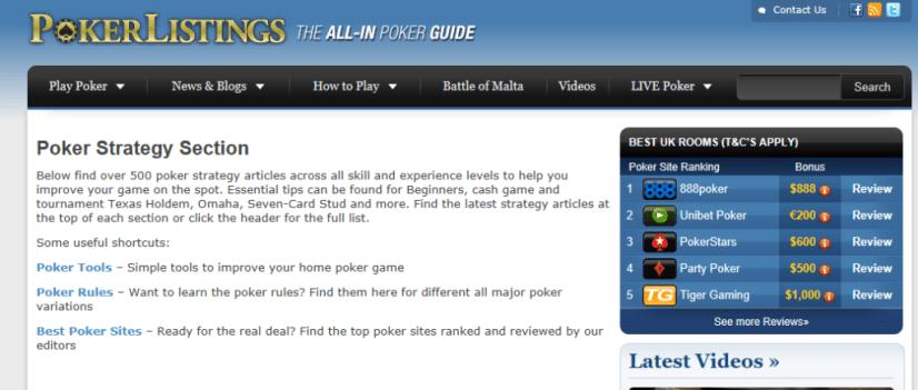 the best poker blogs online