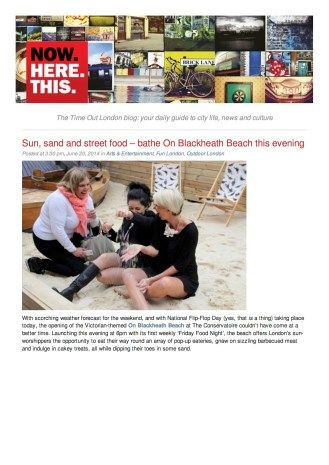 National PR: Time Out #onblackheathbeach