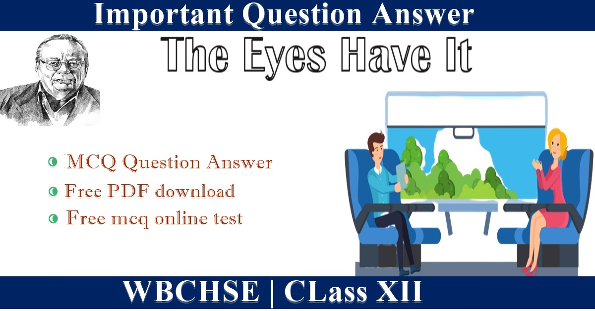 The Eyes Have It   MCQ Question Answer class 12 I Download pdf