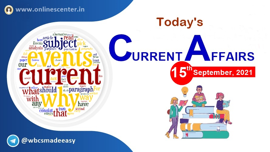 Current Affairs today- 15th September | download free pdf