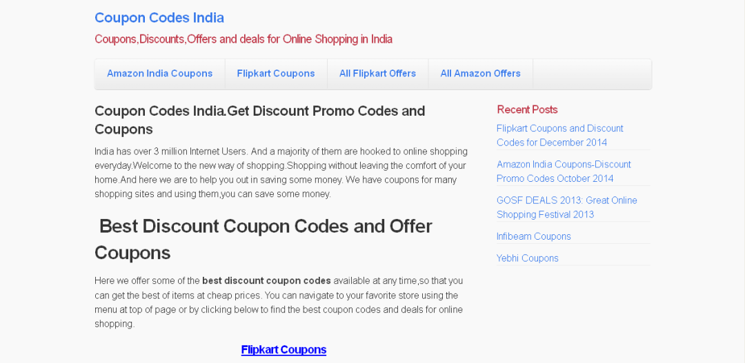 coupon sites for online shopping in India