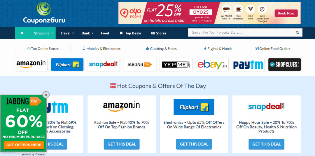 Free offers and discount coupons India