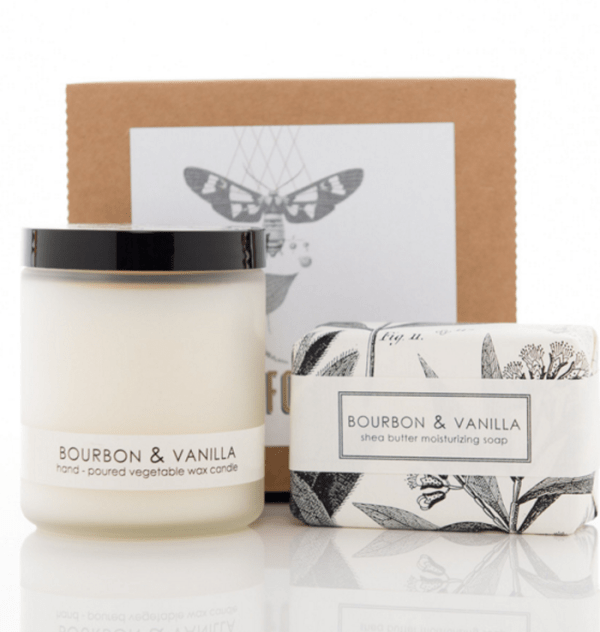 Bourbon Vanilla Candle Soap Gift Set