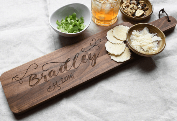 christmas gifts parents engraved cutting board