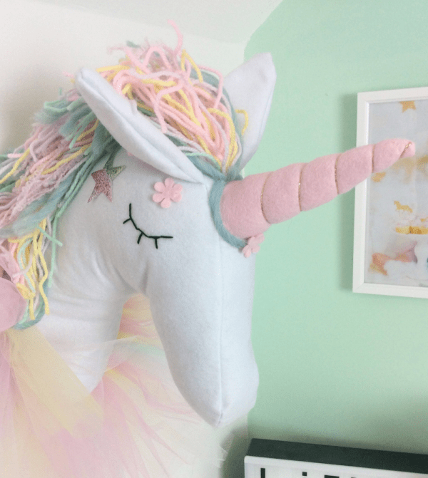 Unicorn Head Wall Decor